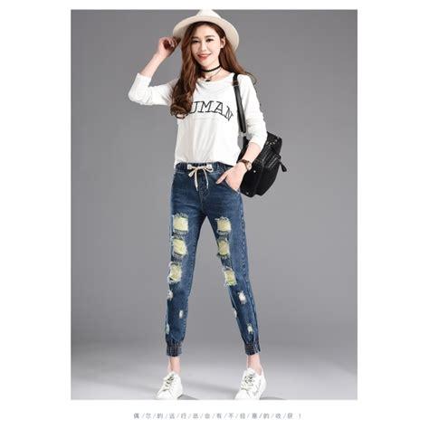 Sobek Branded celana denim sobek t3713 moro fashion