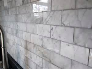 Marble Tile Kitchen Backsplash Carrara Marble Backsplash Design Ideas