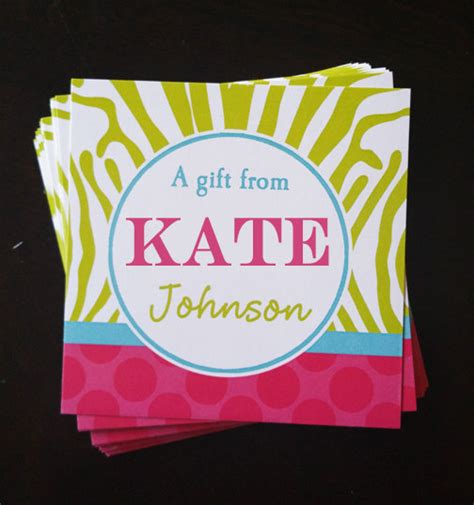 personalized labels printable or printed with free shipping