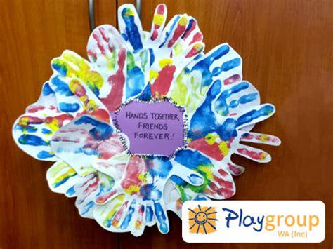 friendship crafts for friendship wreath playgroup wa