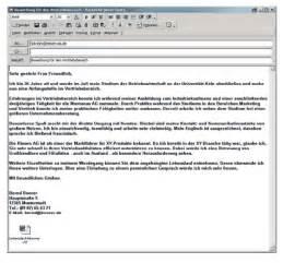 Email Bewerbung Ohne Anschreiben Bewerbung Verschicken Positiv Beispiel