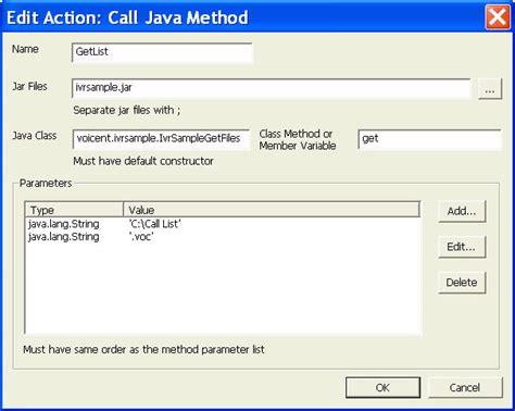 java pattern file extension ivr tutorial create java action