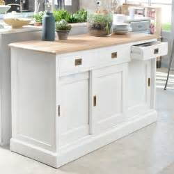 White And Oak Sideboard Buffet Blanc