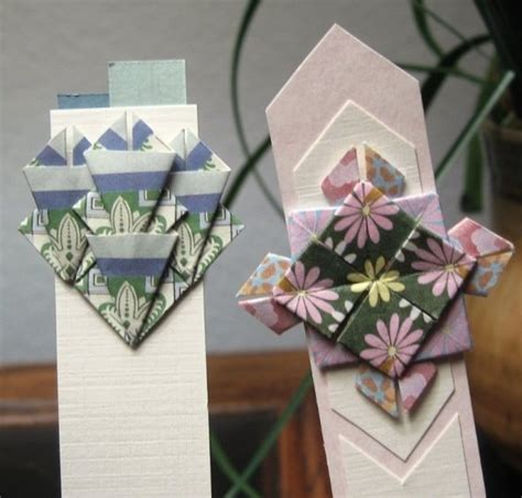 Paper Craft Bookmarks - tea bag folding
