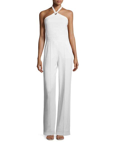 Corina Jumpsuit a l c corinna crepe halter jumpsuit white neiman