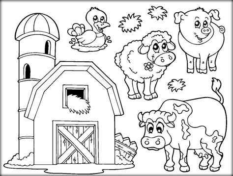 Farm Coloring Pages Free by Coloring Pages Farm Coloring Pages