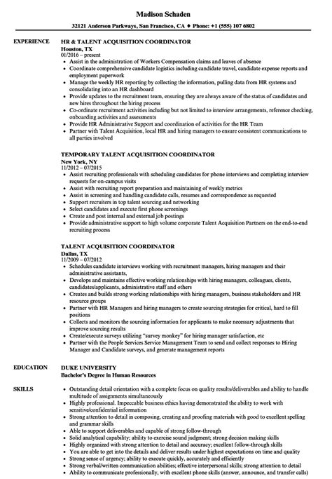 Talent Resume by Talent Acquisition Resume Fiveoutsiders