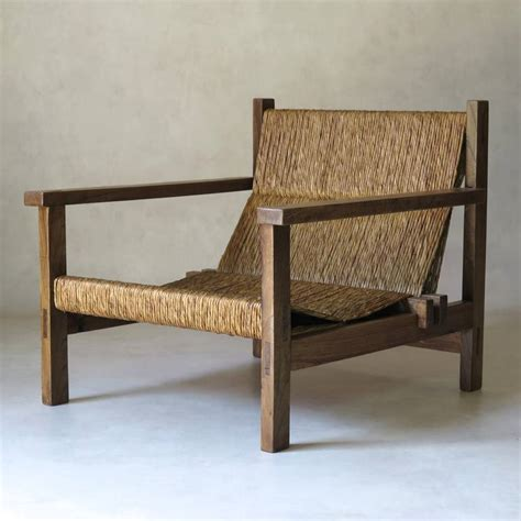 settees and armchairs midcentury rush seat settee and armchair at 1stdibs