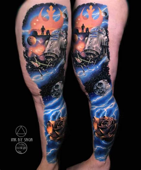 best star wars tattoos space wars best ideas gallery