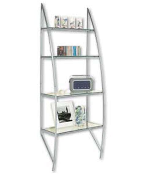 Glass Ladder Shelf by Albany Silver Glass Ladder Shelving Unit Furniture Store