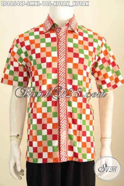 Kemeja Batik Pria Batik Tulis Lengan Pendek Warna Soft Baru Code B L kemeja batik kotak kotak keren dan istimewa pakaian batik