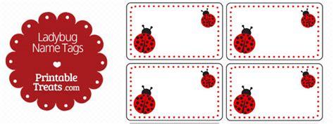 free printable ladybug name tags pin the spot on the ladybug game