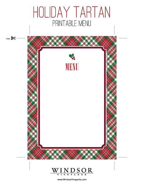 burns supper menu template printable tartan menu template for entertaining