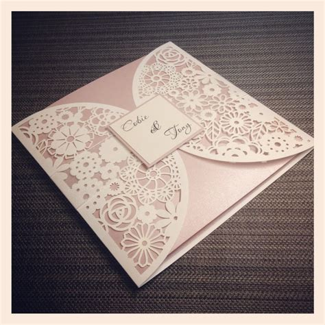 Luxe Laser Cut Wedding Invitation - luxe laser cut wedding invitation simply stunning stationery