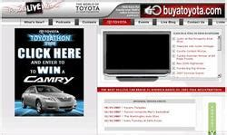 Postal Mail Sweepstakes - toyota sweepstakes announces latest toyota live web contest to win 2008 camry