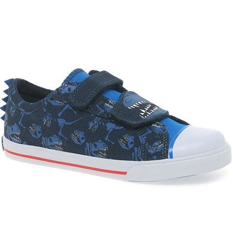 clarks tricer roar boys riptape canvas shoes charles