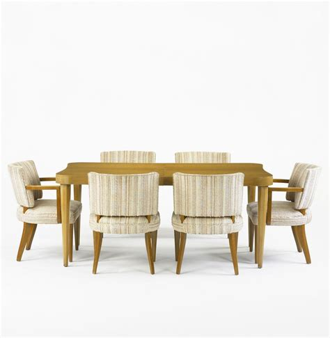 Gilbert Rohde Dining Table And Eight Chairs 8 Dining Table And Chairs