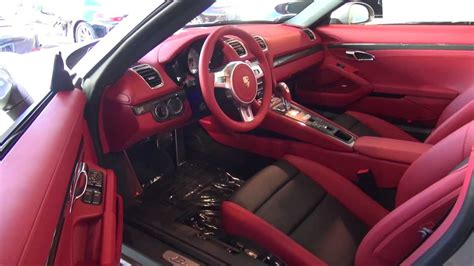 white porsche red interior new 2013 porsche boxster s 981 platinum silver on carrera