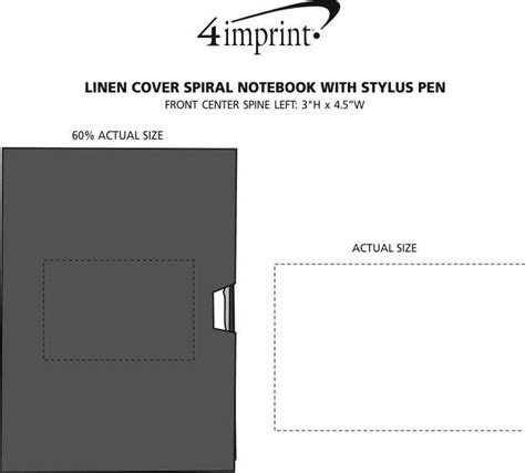 Linen Notebook With Pen 4imprint linen cover spiral notebook with stylus pen