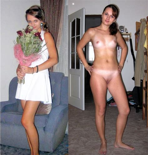 Posing In Gallery Assorted Amateurs Clothed Then Naked Picture Uploaded By