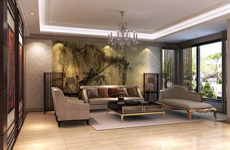 chinese classical painting in living room wall download 3d house villa living room interior design with chinese classical