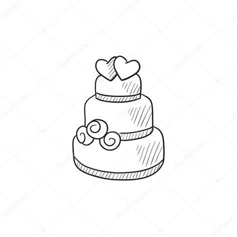 Hochzeitstorte Zeichnung by 205 Cone De Desenho De Bolo De Casamento Vetores De Stock