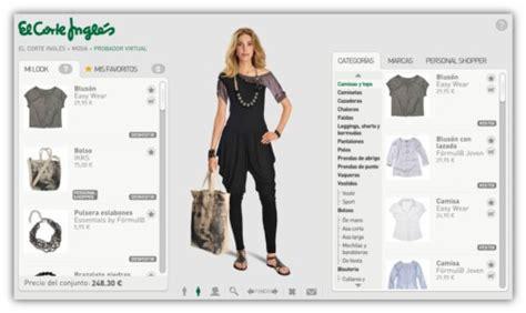 catalogo del corte ingles ropa el corte ingl 233 s tendr 225 probadores on line de moda