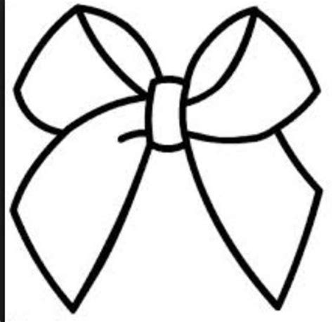 cheer bow coloring page items similar to design your cheer bow on etsy