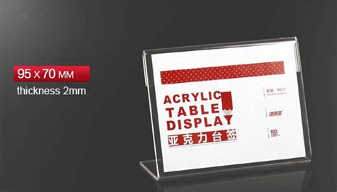 Label Name Plate Display Stand Acrylic Akrilik Model Tenda 20x7 Cm buy wholesale acrylic plate stand from china