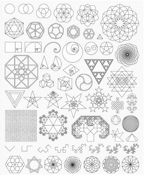 different patterns using geometric shapes basic geometry shapes mandala tattoo pinterest