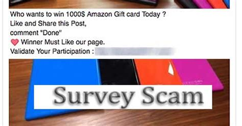 Amazon 1000 Gift Card Scam - quot win a 1000 amazon gift card quot facebook survey scam hoax slayer