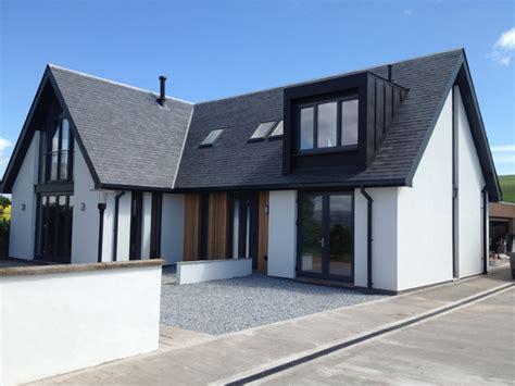 contemporary house design plans uk new build eco house smithy cottage laurencekirk axn