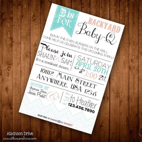 free printable bbq baby shower invitations printable backyard baby q s baby shower invitation