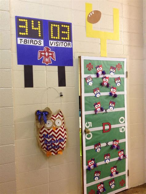 sports themed door decorations 11 best images about homecoming at school on