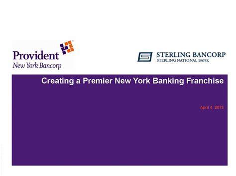 sterling bank ny provident new york bancorp sterling bancorp sterling