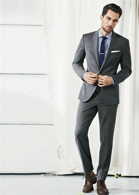 the 25 best ideas about grey suit brown shoes on