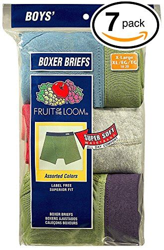 fruit of the loom boxer briefs comfort waistband galleon fruit of the loom boys boxer brief pack of 7