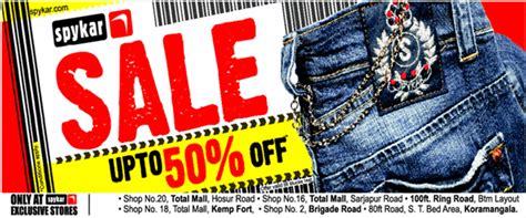 spykar sale find best clothes discounts on upto75