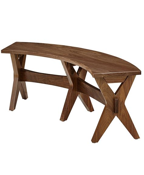 curved benches vadsco curved bench amish direct furniture