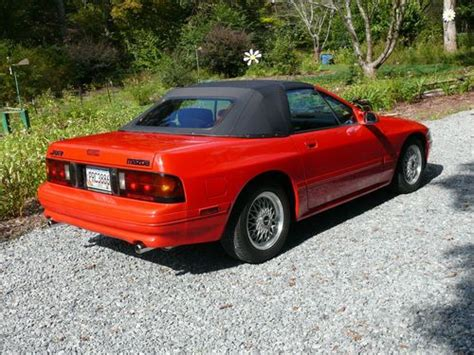 sell used 1990 mazda rx 7 rx7 convertible red 2d rotary engine 1 3l 56k org miles mint in