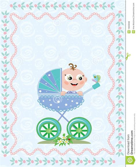 birthday background  baby boy stock vector illustration  cute butterfly