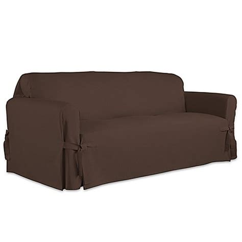 perfect fit couch covers perfect fit relaxed fit cotton duck furniture slipcover