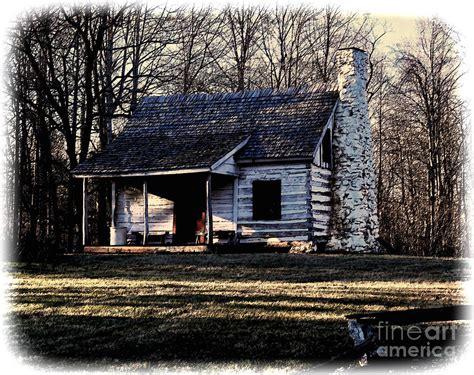 Mullins Log Cabin by Log Cabin Photograph By B Wayne Mullins