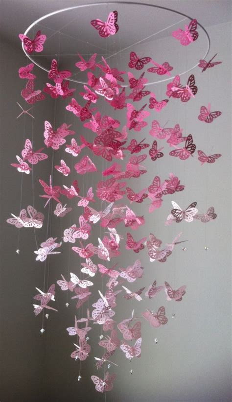 How To Make A Paper Butterfly Chandelier - 40 ways to decorate your home with paper crafts