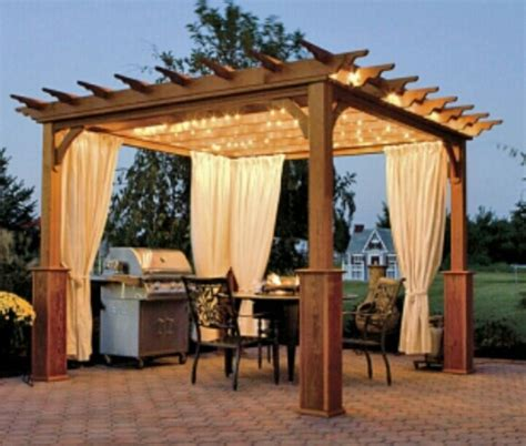 lighted pergola with privacy panels yard pinterest