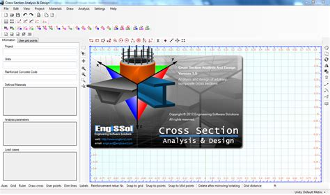 cross section calculator tool for analysis of structural cross sections software