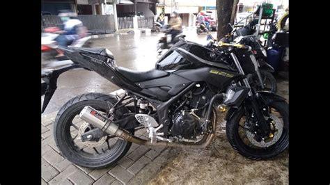Knalpot Racing Yamaha Byson Dbs 2 suara knalpot mt25 original new audey shortly stainless steel depok jakarta review knalpot
