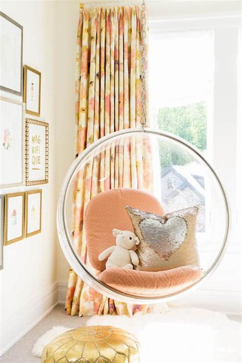 hanging bubble chairs for bedrooms girls room with white hanging chairs contemporary girl