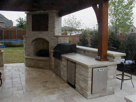 covered outdoor kitchen cost 25 best ideas about outdoor fireplace patio on pinterest