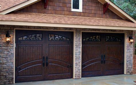 2 Single Car Garage Doors Finished In Rustic Distressed Garage Barn Doors